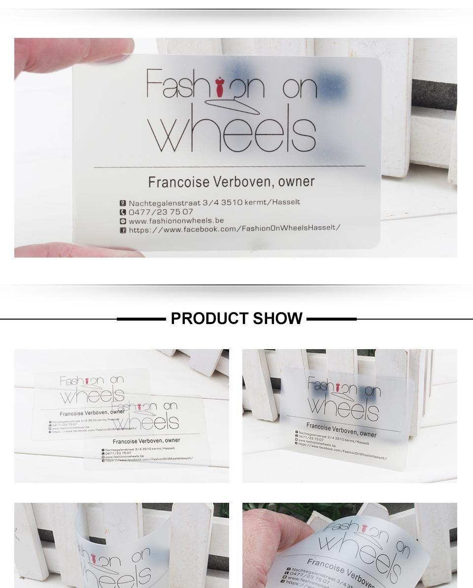Aliexpress Buy Custom Printed Name Card PVC Transparent
