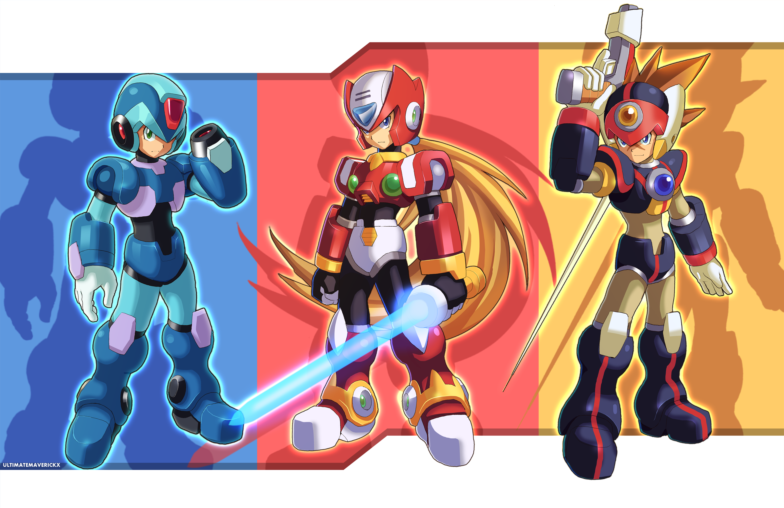 Maverick Hunters By Ultimatemaverickx On Deviantart Mega Man Maverick Hunter Mega Man Art