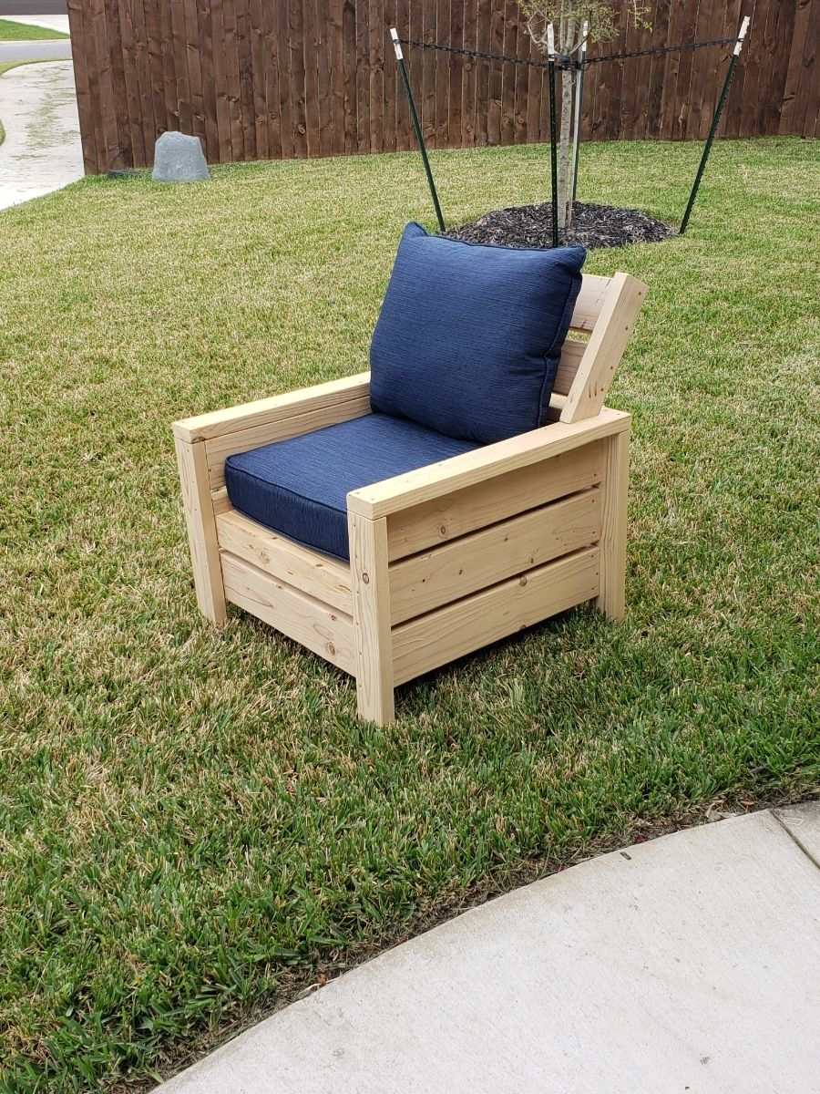 Modern outdoor 10x10 chair with modification  Ana White  Modern