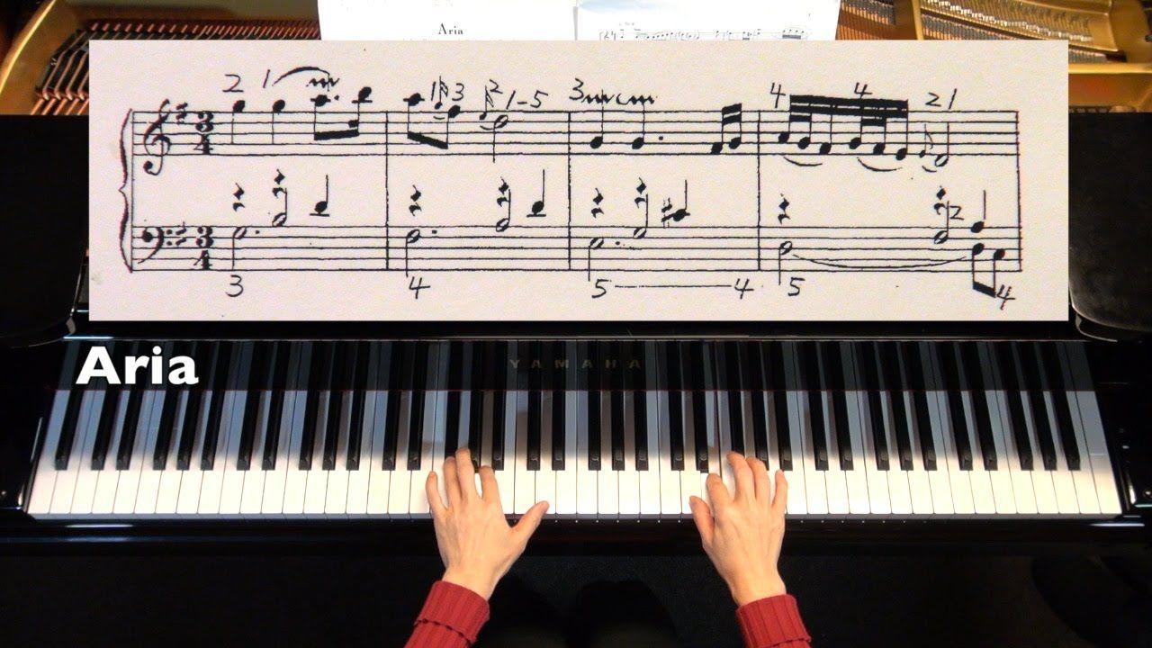 Pin En Aria Goldberg Variations Piano Sheet Music Multi Levels