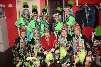 2nd Place winners at the Concurso de Tinkus 2013 - NY
