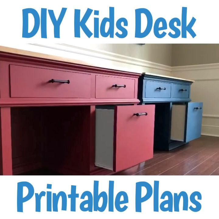 DIY Wood Kids Desk Plans with Storage - Abbotts At Home -   18 diy Kids desk ideas