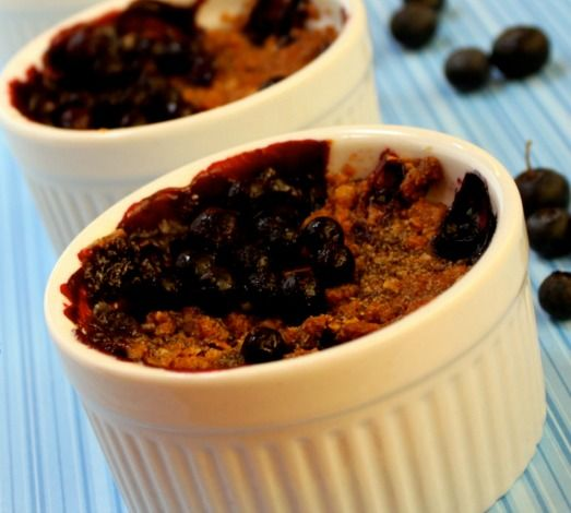 Easy Individual Berry Crumbles…Gluten Free, Dairy Free, Egg Free, Soy Free