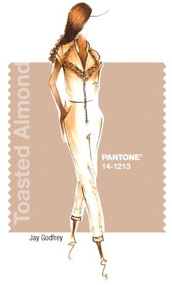 Jay Godfrey in Pantone Toasted Almond - SPRING 2015 PANTONE's #FashionColorReport