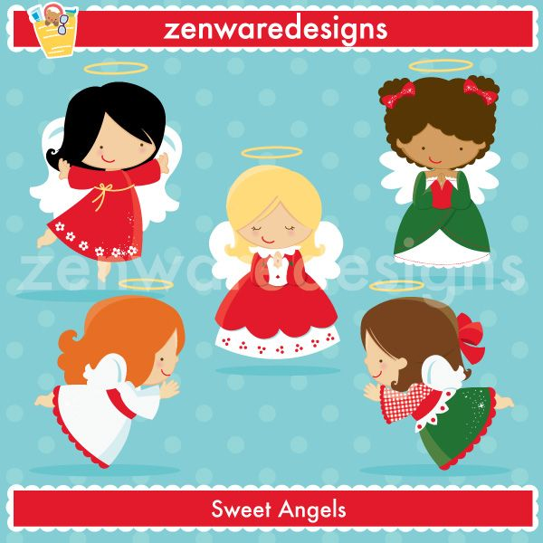 Description Merry Christmas!!! These cute little Christmas angels - angels templates free