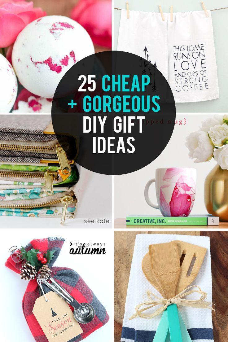 25 cheap {but gorgeous!} DIY gift ideas #cheapgiftideas