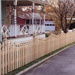 Spaced Picket 1 34 Concave French Gothic Academy Fence Company