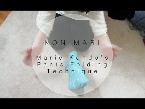 kon mari how to fold pants in the marie kondo way sarah sky youtube marie kondo w sche. Black Bedroom Furniture Sets. Home Design Ideas
