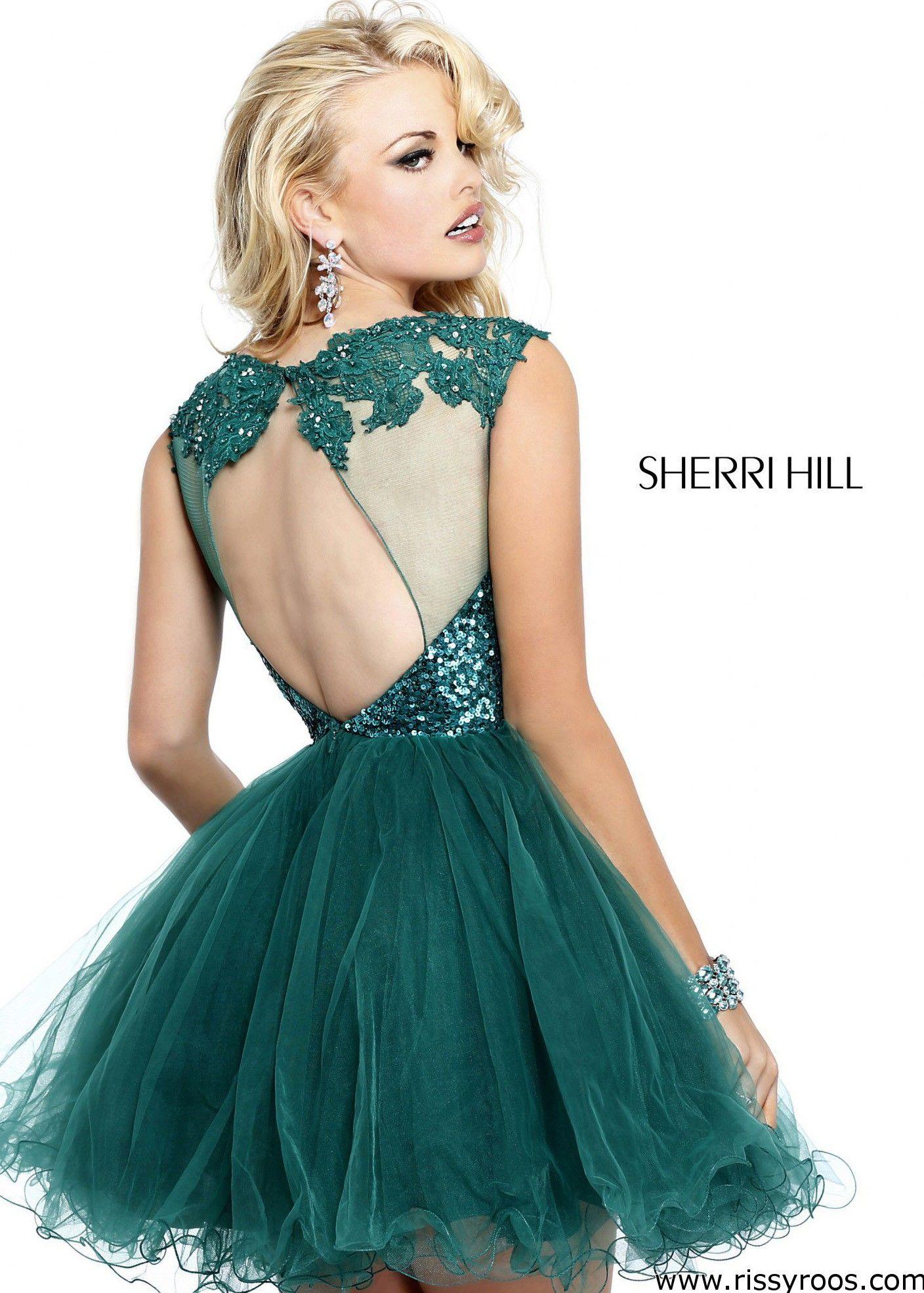 Short Emerald Homecoming Dresses