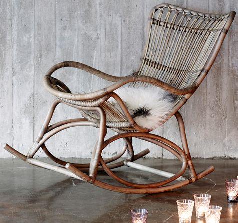 Rattan Schaukelstuhl Monet Relax Moebel Rattan Mobel Looms Rattan Rocking Chair Rocking Chair Indoor Rattan Furniture