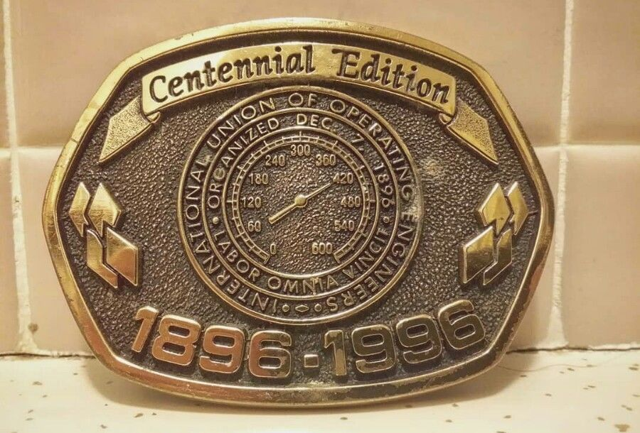 International Union Of Operating Engineers Vintage Belt Buckle