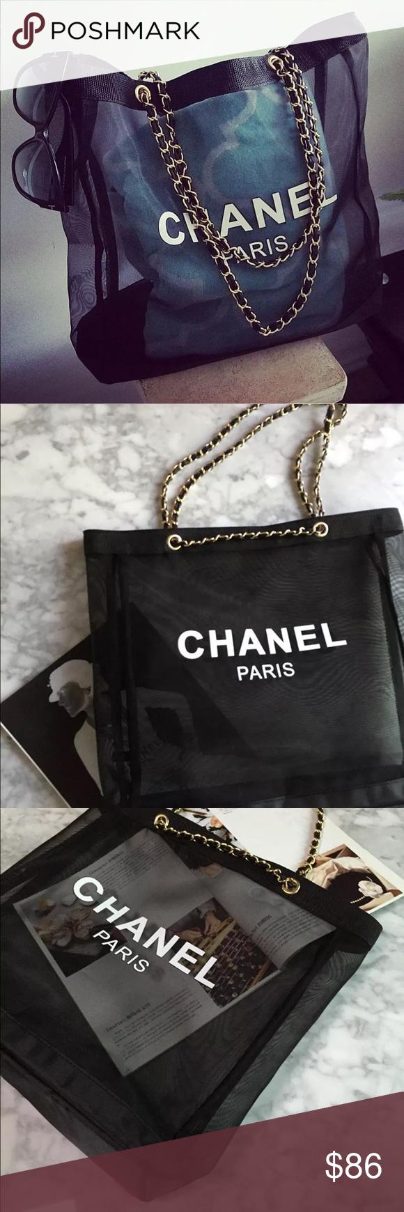 e2c153e81c7a CHANEL VIP GIFT MESH TOTE BAG CHAIN STRAP New in plastic bag CHANEL Bags  Totes