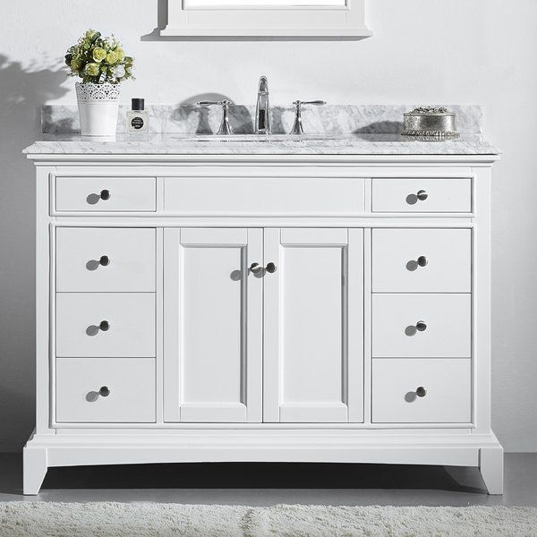 Pineville 42 Single Bathroom Vanity Set 42 Inch Bathroom Vanity White Vanity Bathroom Elegant Bathroom Furniture