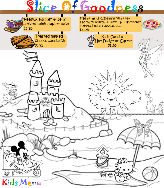 Spend a little extra on your kids menu. Coloring menus are