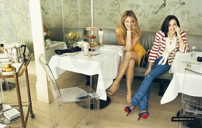 Blake Lively and Leighton Meester in Vogue Magazine ...