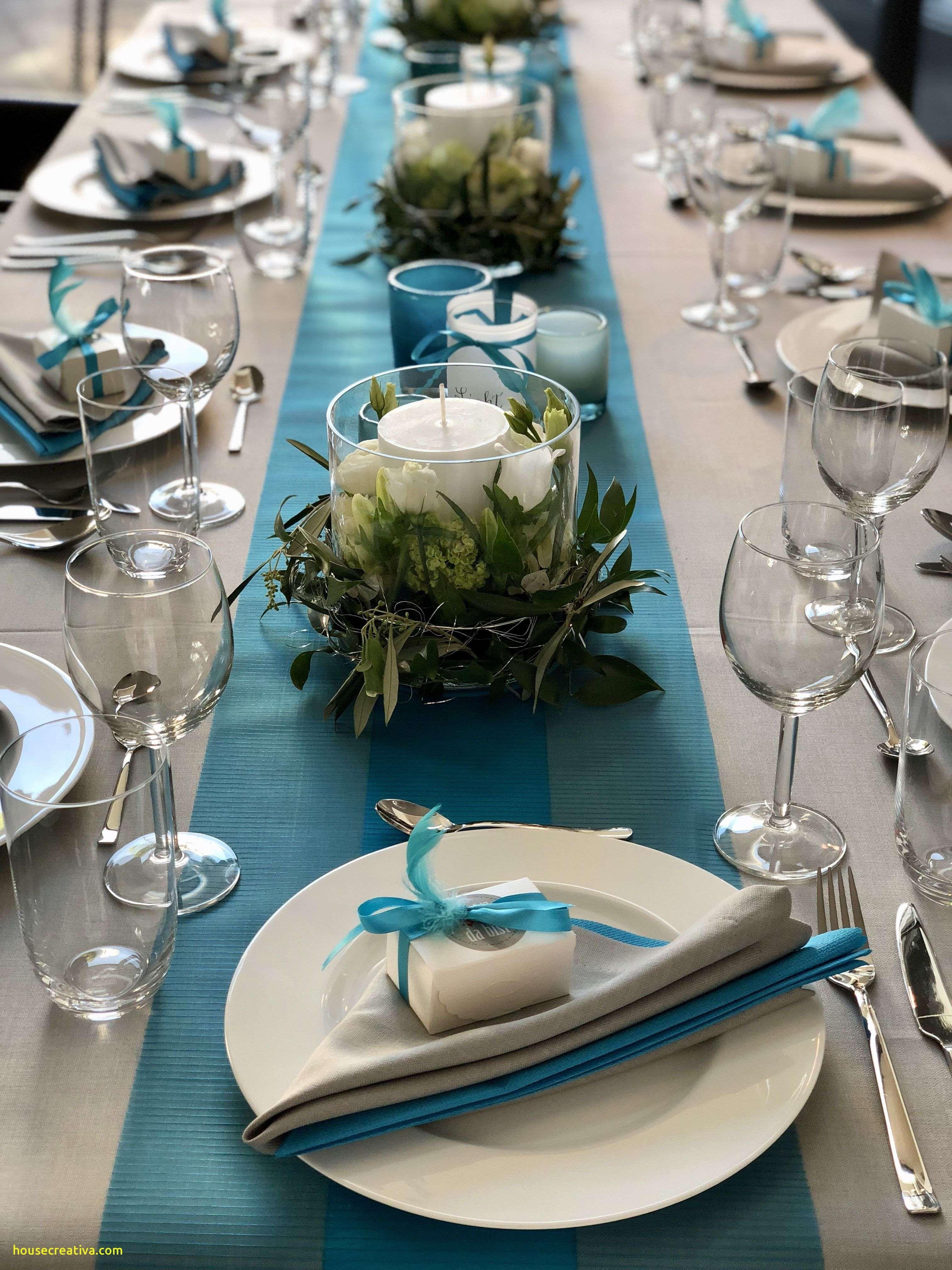 Elegant Blue White Silver Table Decorations Homedecoration