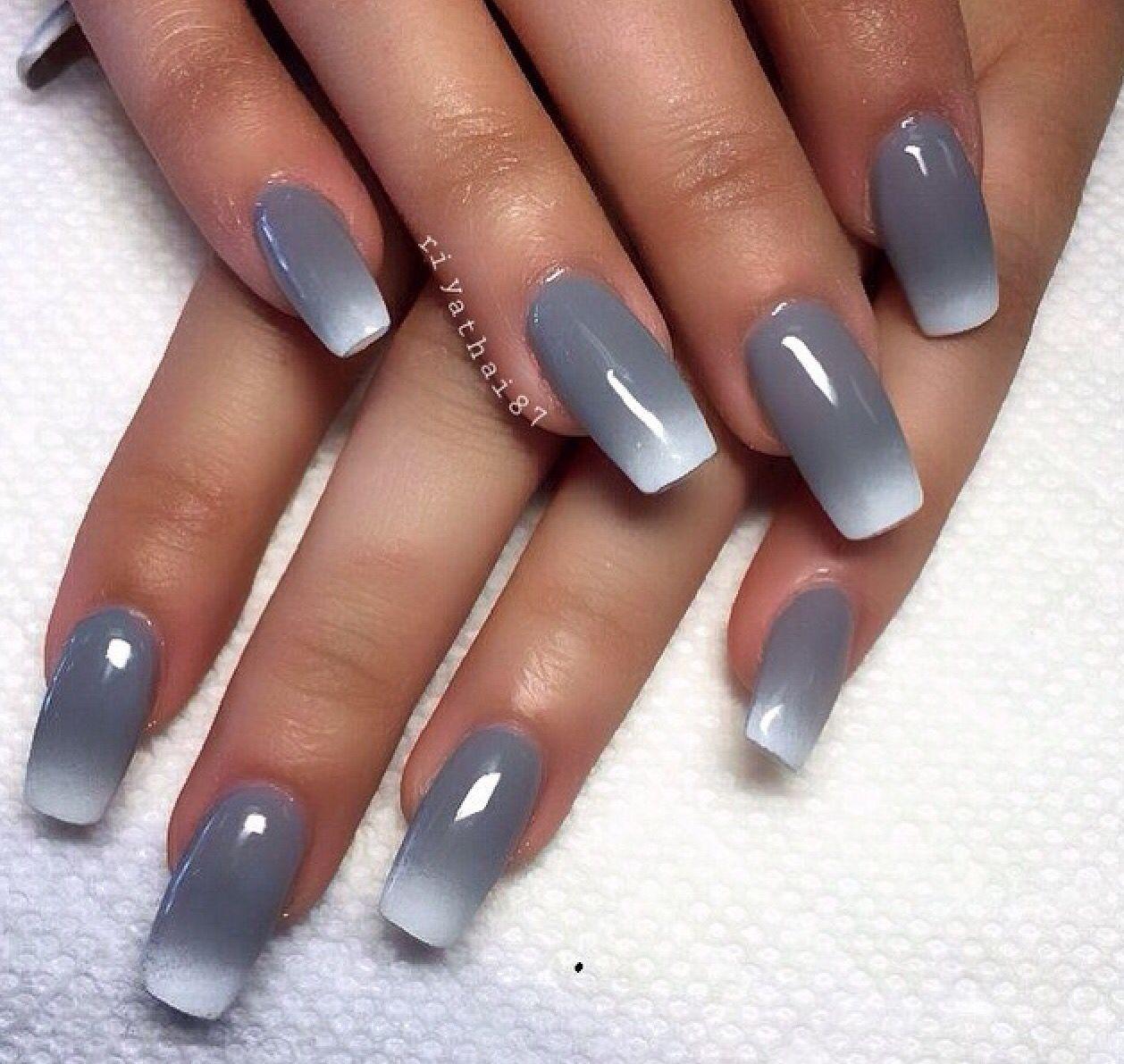 Gradient nails i i s c a n a d i a n estetica pinterest