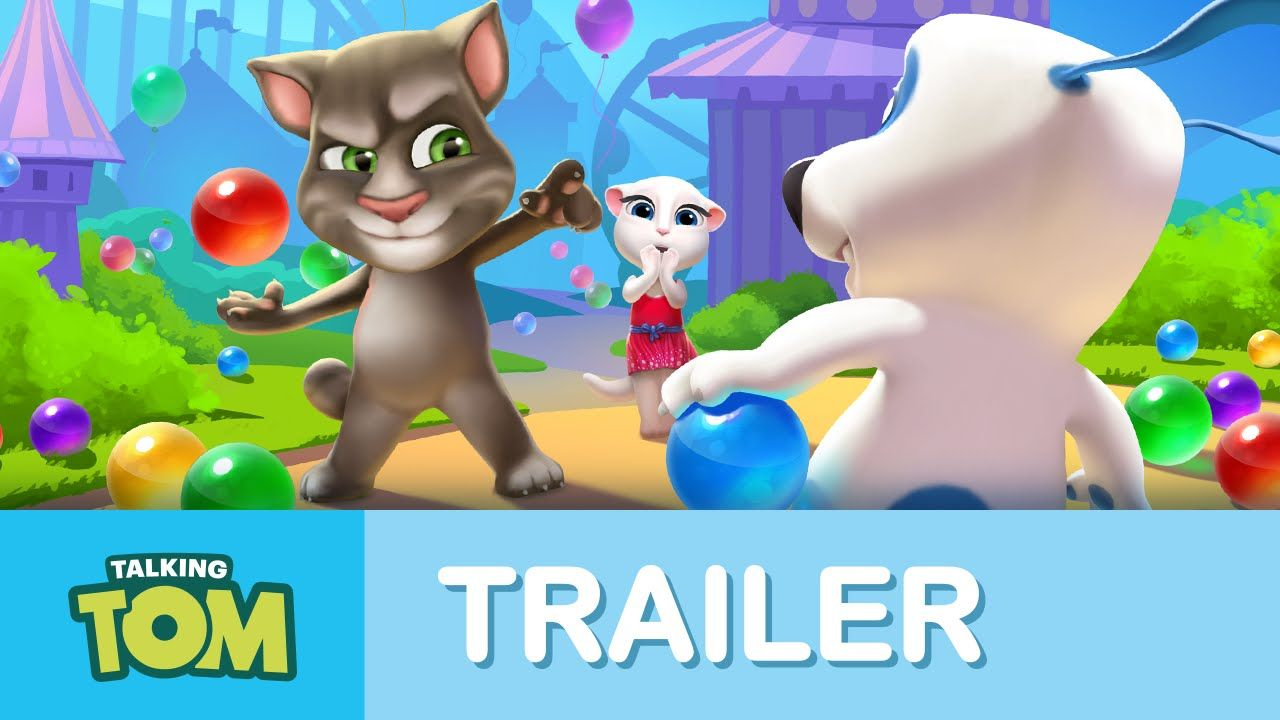 Talking Tom Bubble Shooter Official Trailer xo, Talking