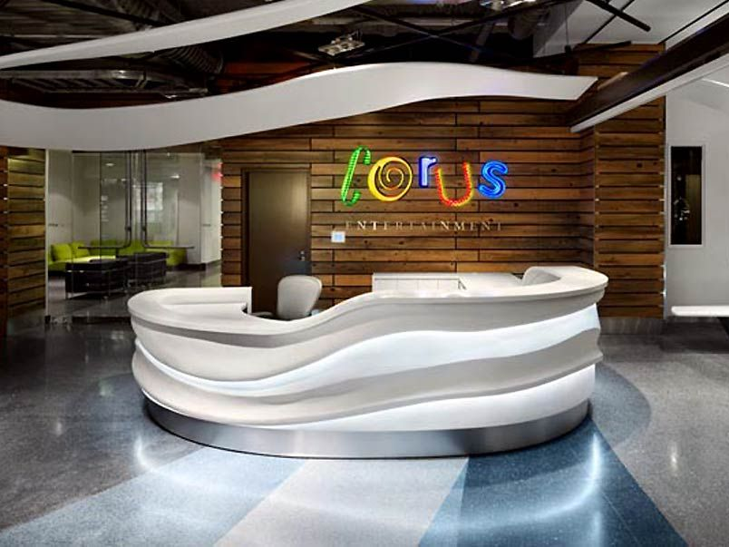 Office Lobby Design Ideas Modern Office Reception Lighting Design ...