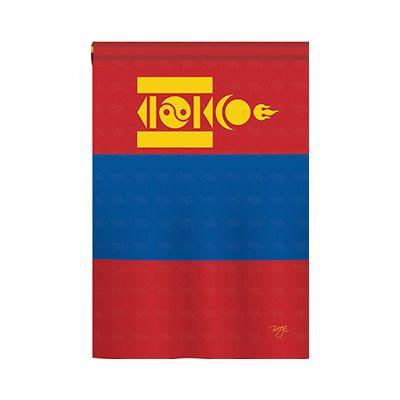 TwoGroupFlagCo Mongolia 2-Sided Vertical Flag Size: