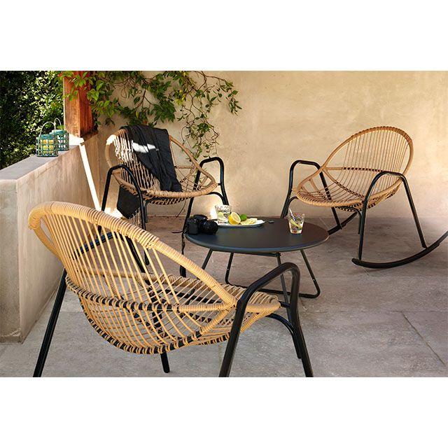 Rocking Chair De Jardin En Metal Cuba Mobilier Jardin Mobilier