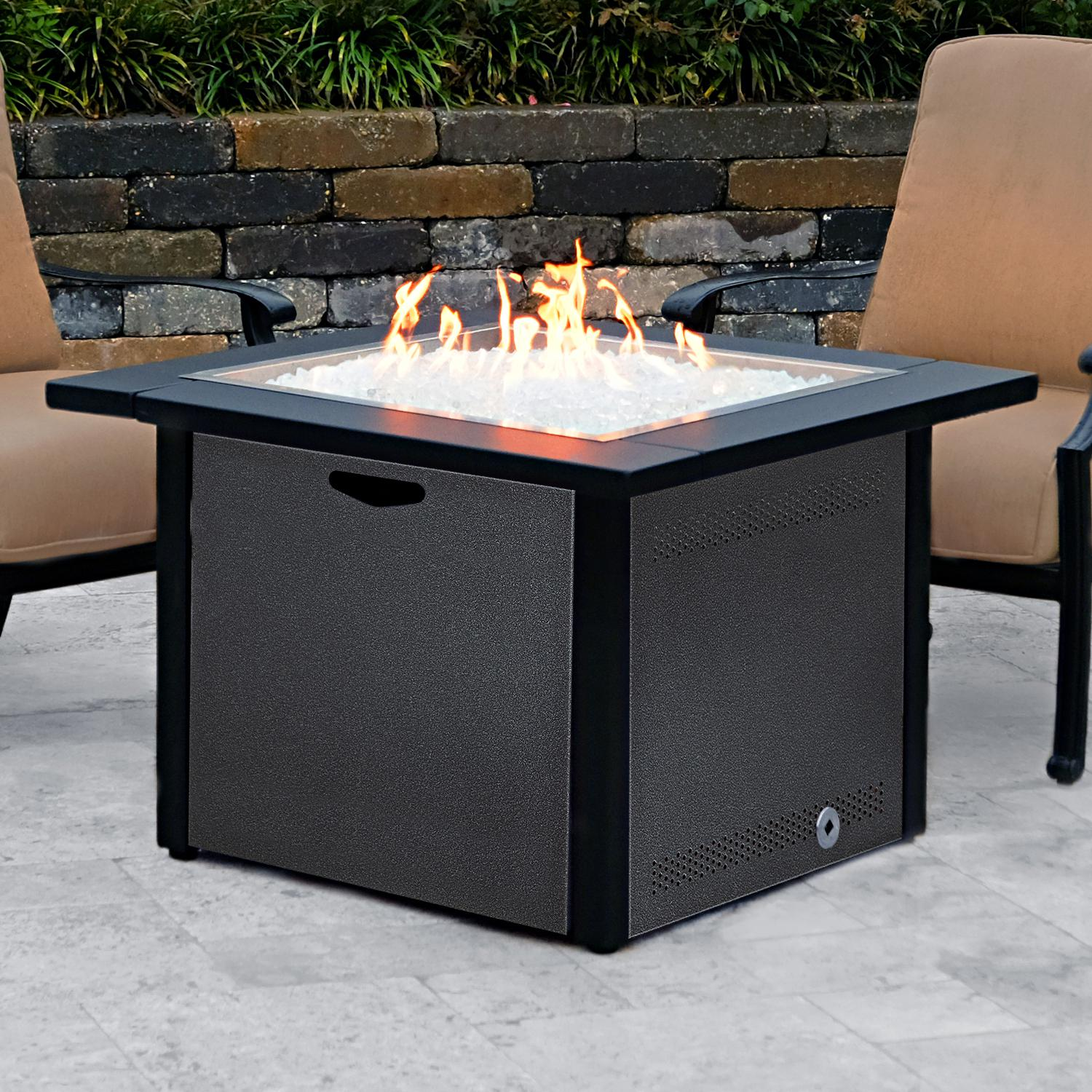 Lakeview 36 Square Propane Gas Fire Pit Table W 24 Pan And Burner Silver Vein Ch 36fp A Lp Sv Fire Pit Table Gas Fire Pit Table Natural Gas Fire Pit