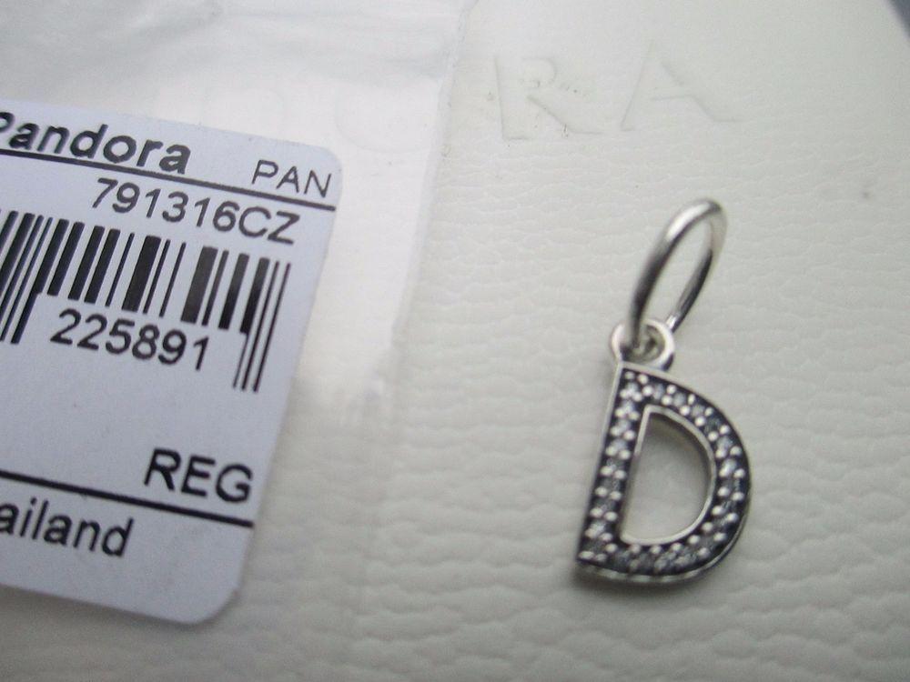 28132f65c Authentic Pandora Charm Alphabet Letter D Dangle with CZ #791316CZ #Pandora