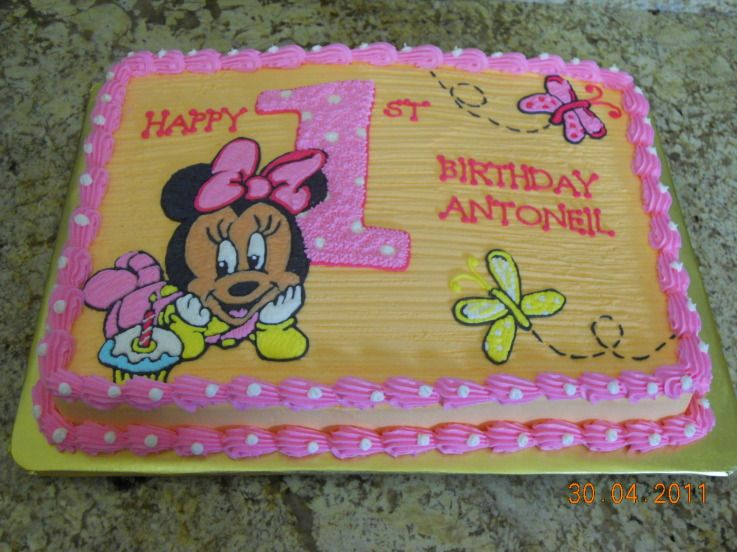 Baby Minnie Mouse Cake Bing Images Cakes Pinterest Baby
