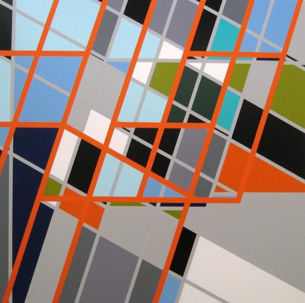 Contemporary Art Space Color And Shape In 2019 Geometric