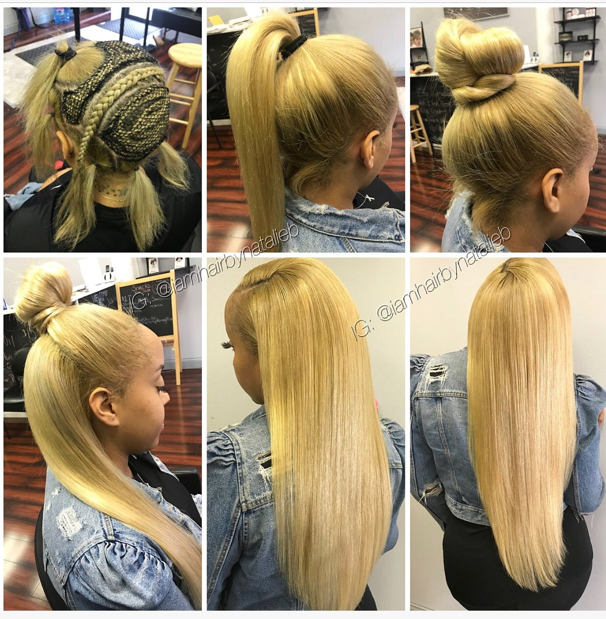 Check Out My New Four Way Sew In Hair Weave This Sew In Lets You Wear Your Hair In Almost Any Style A Sew In Hair Extensions Weave Hairstyles Blonde Weave
