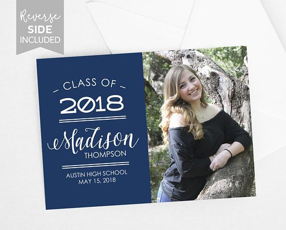 graduation announcement digital or print 5x7 photo