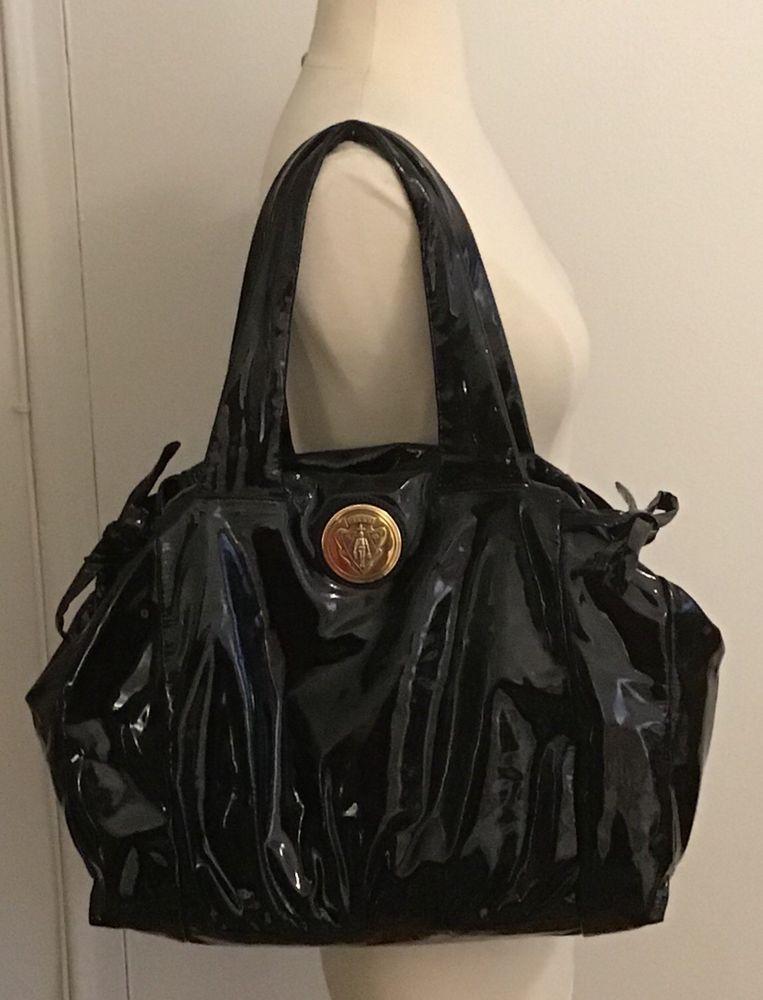 GUCCI Black Patent Leather Handbag - Hysteria Collection  b9ac8829d0ecc