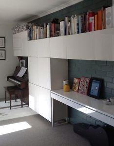 ikea besta office. ikea besta burs gloss white desk or side table excellent condition office