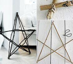 Wie kann ich einen Stern aus Holz basteln?