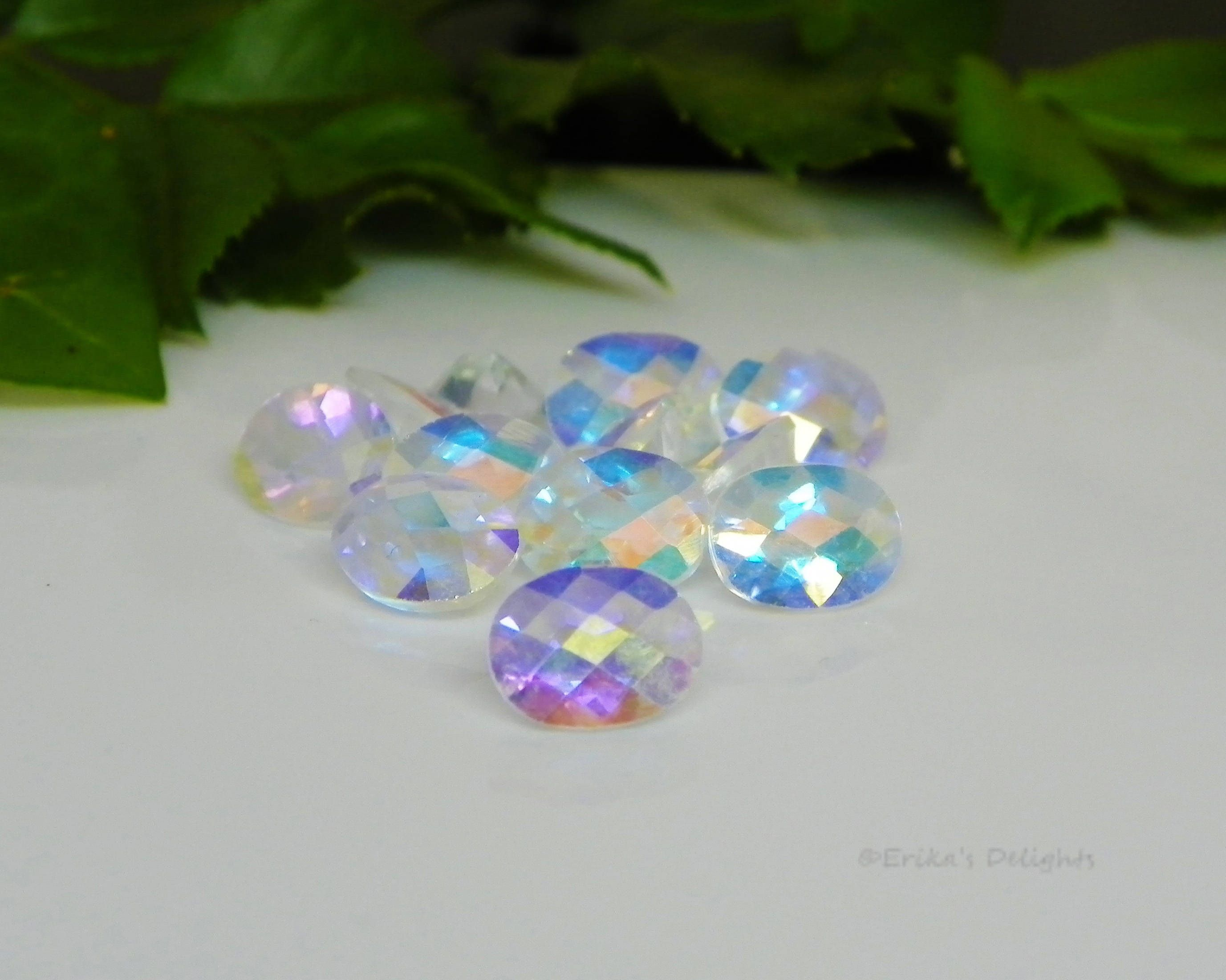 9x7 Oval Checkerboard Mercury Mystic Topaz  2.35cts