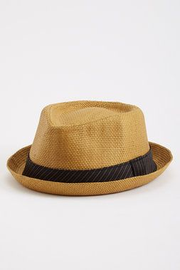 Parker Straw Fedora - Coal - Hats : JackThreads