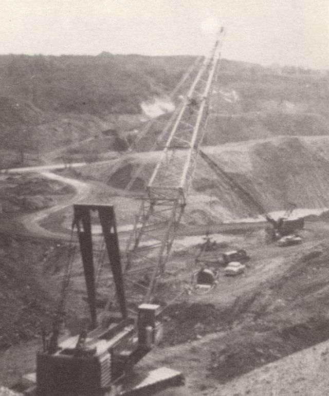 Coal Strip Mining, 1963. Strip-mining