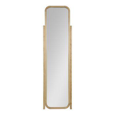 Charlton Home Old Lyme Scandinavian Modern Wooden Standing Ladder Full Length Mirror Finish Mirror Rectangular Mirror Full Length Mirror Glass