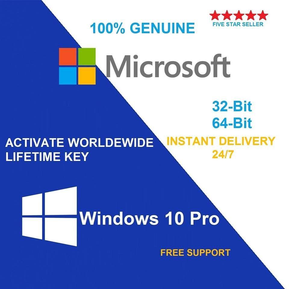 Windows 10 Pro 32 64bit Original License Key Code For 1pc 10 00 Download Now Windows 10 Microsoft Windows Microsoft