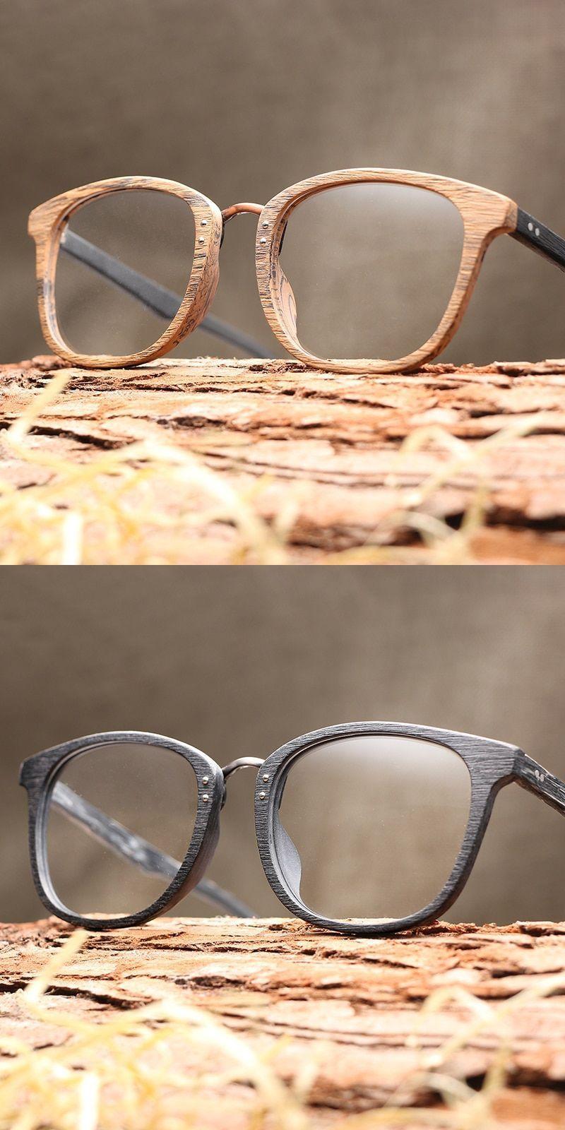 e50a2117c866 Men women myopia glasses wooden frame with clear lenses brand design  eyeglass  frames  eyewear  accessories  men women  acetate  wooden alloy   solid  round ...