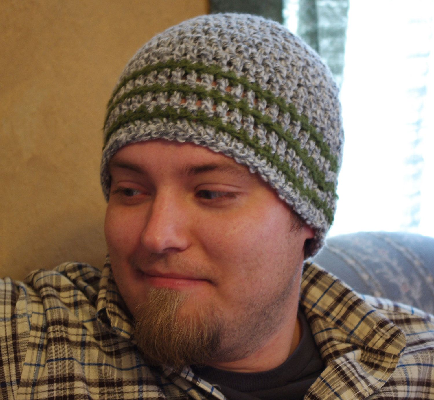mens stylish croched hats | Crochet Beanie Hat Adult Size Winter Hat ...