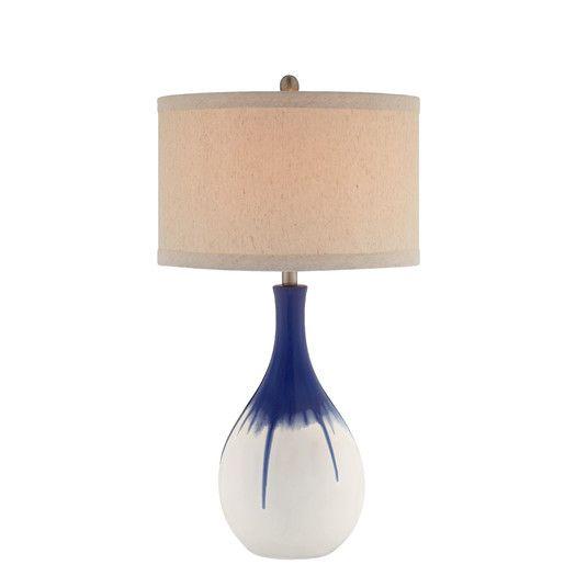 Illuminada 3 Way Teardrop Ceramic 30 H Table Lamp With Drum Shade Ceramic Table Lamps Led Table Lamp Lamp