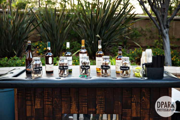 Cigar And Whiskey Bar Wedding Reception Idea For Guys