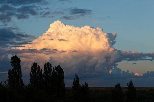 Evening Cloud Clouds Landscape Photo
