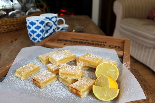 Lemon Squares - must use up all the lemons on my gorgeous tree - yum