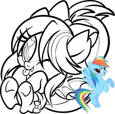 There is a beautiful My Little Pony Coloring Book with 96 ...