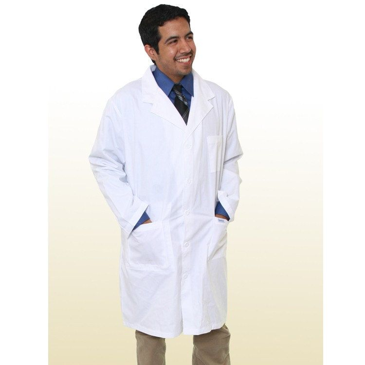 Ready to ship Free One line Personalized White Lab coat Unisex 40 inches,  Long Doctor Jacket, Lab Coat Men, Lab Coat Costume, Army Lab coat