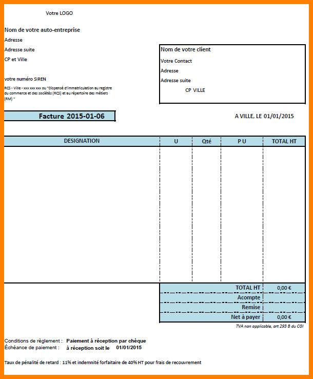 exemple-de-facture-excel-facture-type-ae 12+ exemple de ...