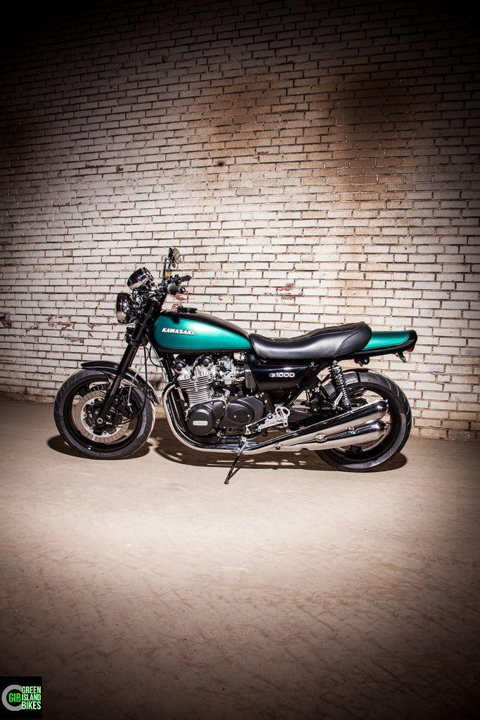 Hier Ein Weiterer Kawasaki Z 1000 Umbau Von Green Island Bikes Auch Dieses Custombike Fallt