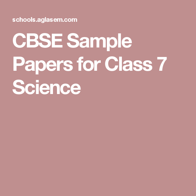 Cbse Sample Papers For Class  Science  Abbu Karthikeya